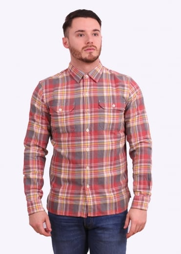 Levi's Red Tab Jackson Worker Shirt - Piva Pewter