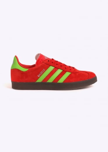 Adidas Originals Footwear Gazelle - Red/Solar Green