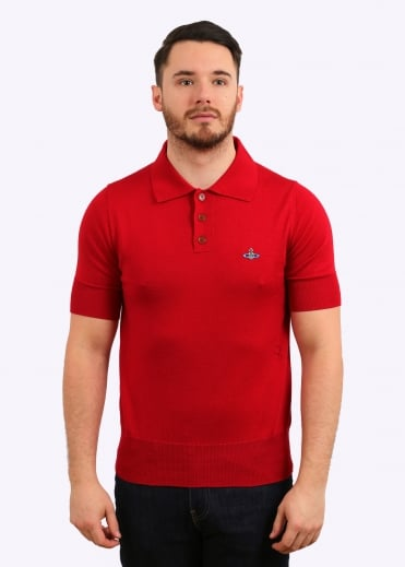 Classic Knit Polo - Red