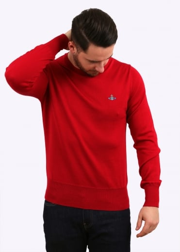 Vivienne Westwood Mens Classic Round Neck - Red