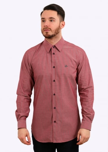 Classic Cutaway Stripe Shirt - Red