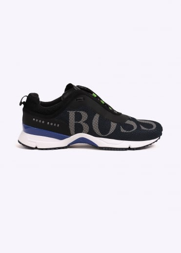 Hugo Boss Green Velox Trainers - Dark Blue