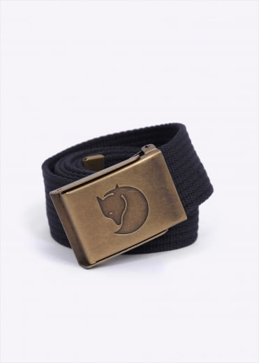 Fjallraven Canvas Brass Belt 4CM - Dark Navy