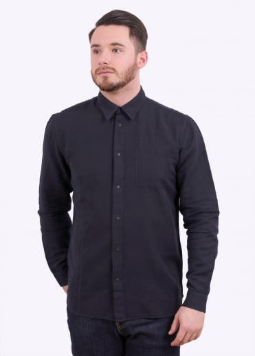 Folk Pop Stud Shirt - Soft Navy