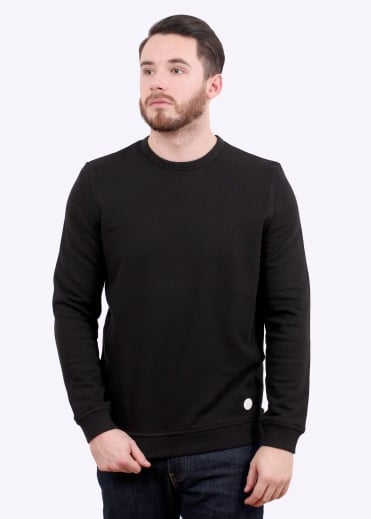 Folk Panel Sweat - Black