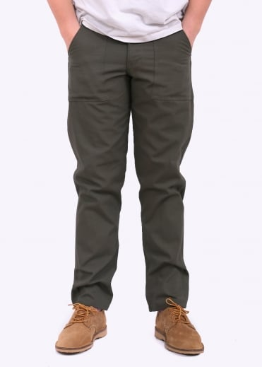 Slim Fit 4 Pocket Fatigue - Olive