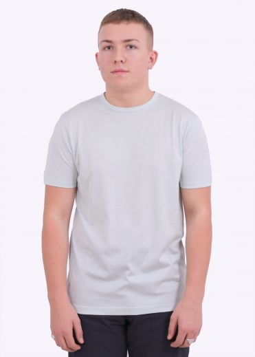 Sunspel Q82 Short Sleeve Crew Neck - Mineral Blue