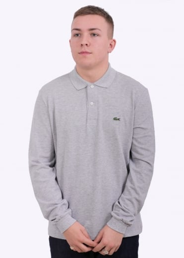 LS Pique Polo - Silver Chine