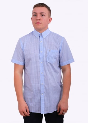 Lacoste Classic Fit Gingham Shirt - Nattier Blue