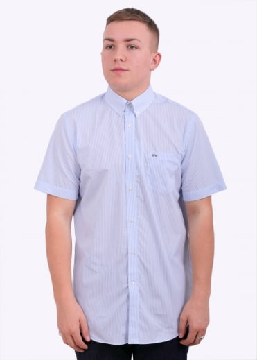 Lacoste Woven Shirt - Nattier Blue / White