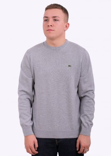 Crew Sweater - Silver Chine