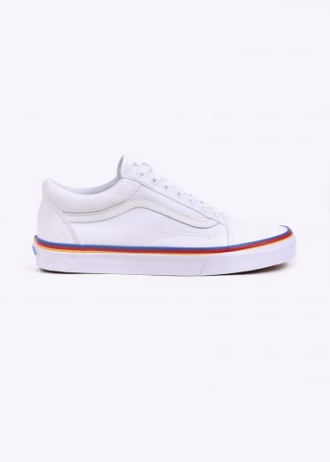 Old Skool Rainbow - White / Rainbow