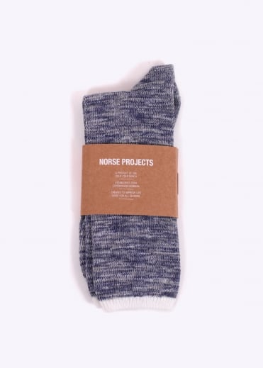 Norse Projects Bjarki Blend Cotton Socks - Navy