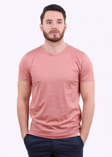Norse Projects Esben Blind Stitch SS Tee - Fusion Pink