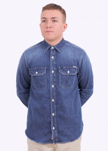 LS Union Shirt - Blue True Stone