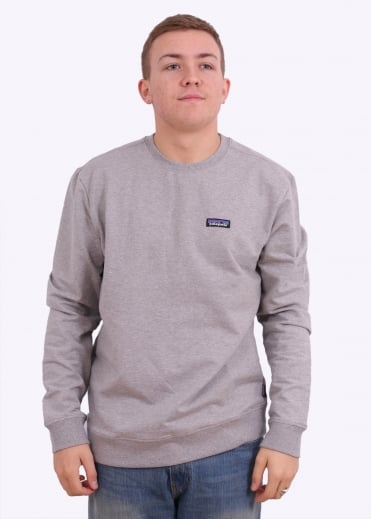 Patagonia P-6 Label MW Crew Sweatshirt - Feather Grey