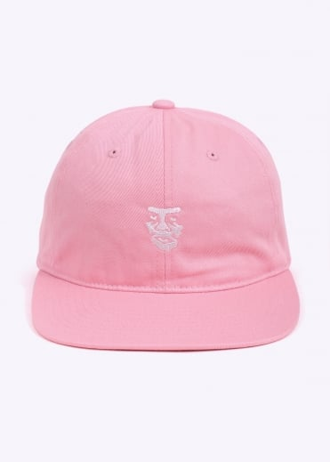 Creeper Face 6 Panel Hat - Rose