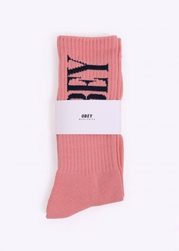 New Times Socks - Rose / Navy