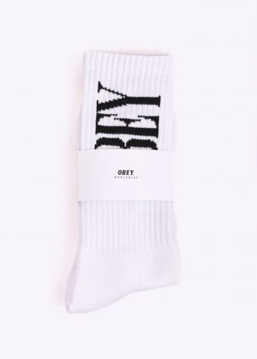 New Times Socks - White / Black