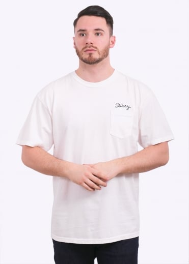 Stitch Pig Dyed Pocket Tee - Natural