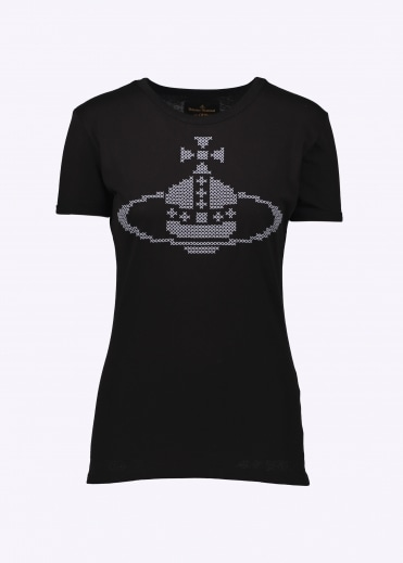 Embroidered Orb T-Shirt - Black