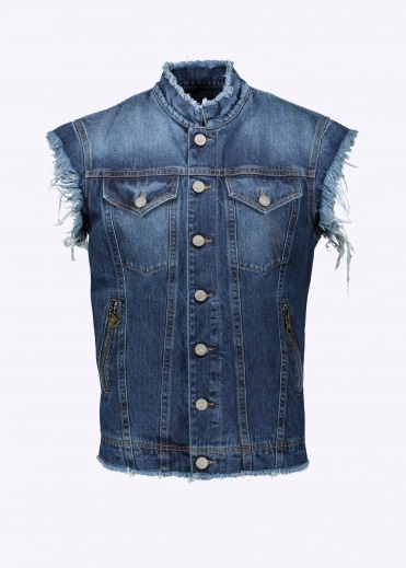 Vest Jacket - Blue Denim