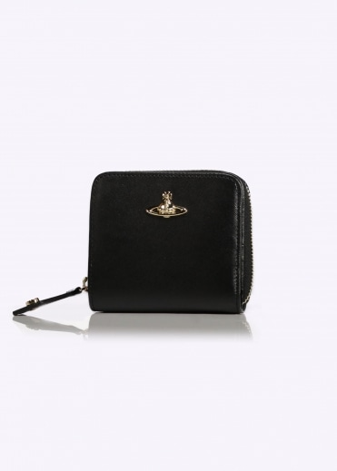 Zip Wallet Opion Saffiano - Black