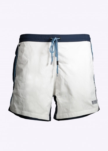Hugo Boss Snapper Shorts - White / Navy