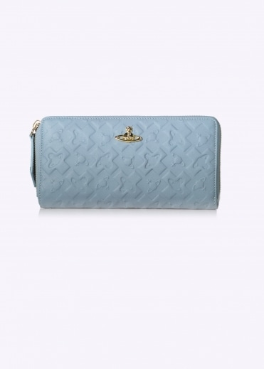 Zip Round Wallet Harrow - Blue