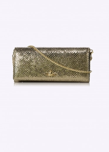 Long Chain Wallet - Gold