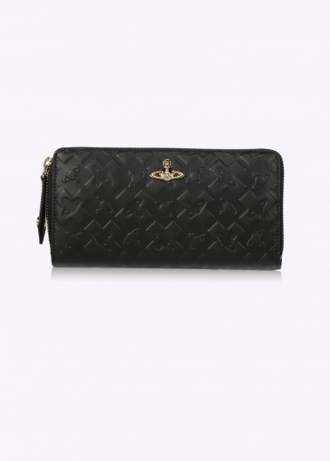 Zip Round Wallet Harrow - Black