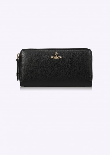 Balmoral Zip Round Wallet - Black