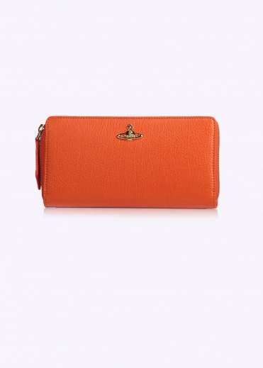 Balmoral Zip Round Wallet - Orange