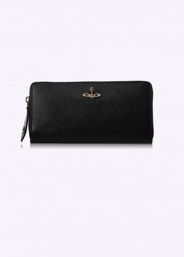 Opio Zip Round Wallet - Black