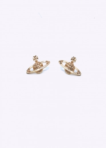 Vivienne Westwood Jewellery Mini Bas Relief Earrings - Gold