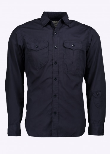 Triple Needle Shirt - Navy
