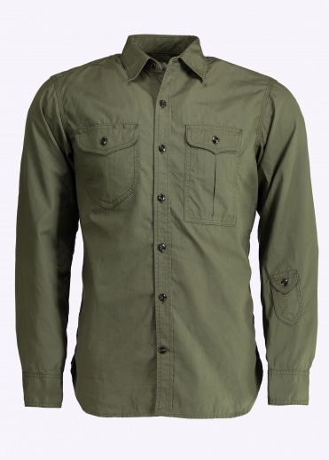 Triple Needle Shirt - Olive