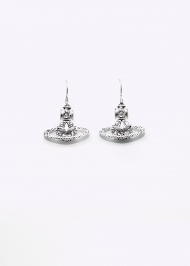 Astrid Drop Earrings - Rhodium