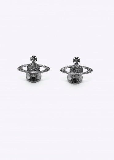 Vivienne Westwood Accessories Mini Bas Relief Cufflinks - Gunmetal