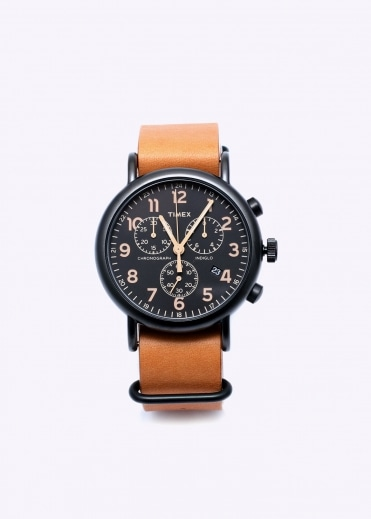 Weekender Chronograph Watch - Brown