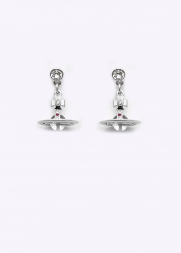 Petite Orb Earrings - Rhodium