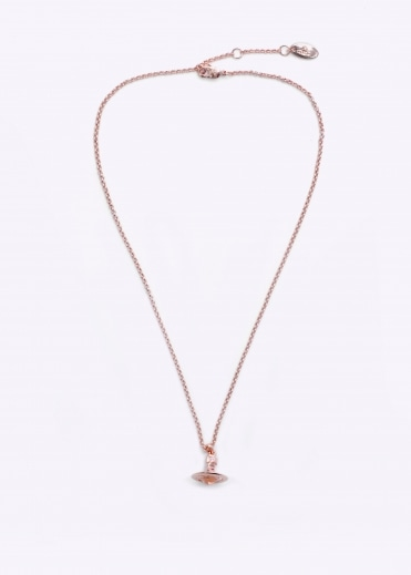 New Petite Orb Pendant - Pink Gold