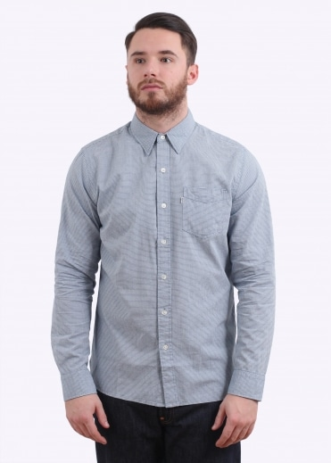 Sunset 1 Pocket Shirt - Dark Blue