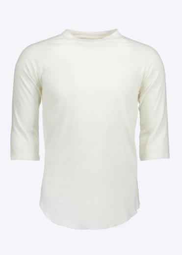 Solid Raglan 3/4 Sleeve - Washed White