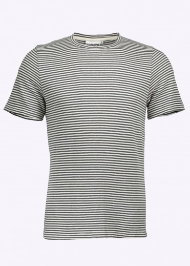 Yarn Dyed SS Stripe Tee - Diesel Grey