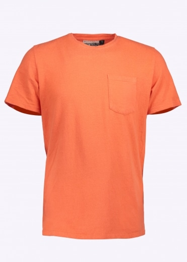 7oz Pocket Tee - Pink Salmon