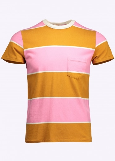 1960s Casual Stripe Tee - Peanut Jelly