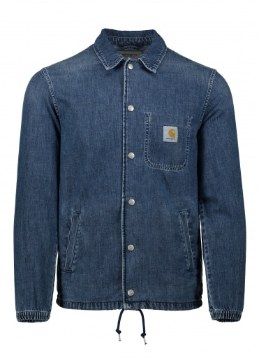 Denim Coach Jacket - Blue