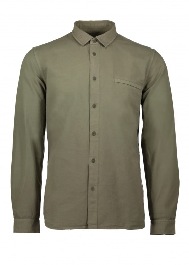 Elbow Patch Shirt - Military Green
