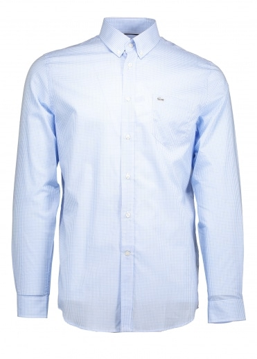 Regular Fit Gingham Shirt - Nattier Blue